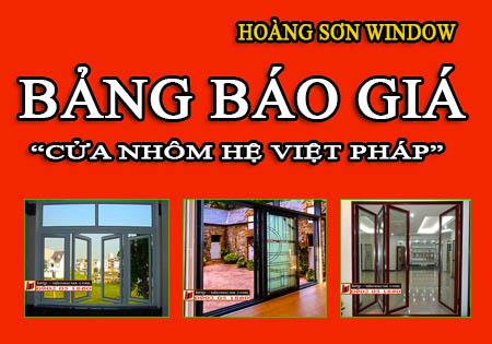 Báo giá cửa nhôm Việt Pháp tại Miền Bắc
