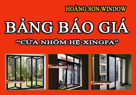 Báo giá cửa nhôm Xingfa tại Miền Bắc.