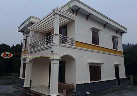 Công trình cửa nhôm hệ cao cấp PMA tại thị trấn Thanh Miện, Hải Dương.