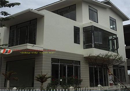 Công trình cửa nhôm Xingfa tem đỏ tại phường Trần Hưng Đạo, Hải Dương.