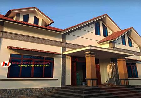 Công trình cửa nhôm vân gỗ JMA tại Trâu Quỳ, Gia Lâm, Hà Nội.
