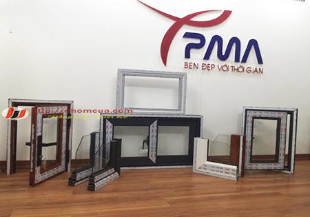 Cửa sổ nhôm PMA cao cấp 4 cánh đẹp tại Hải Dương