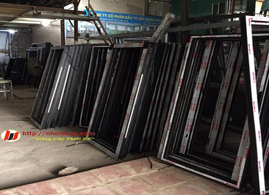 Kỹ thuật sản xuất kiểu cửa lùa nhôm Xingfa nhập khẩu.